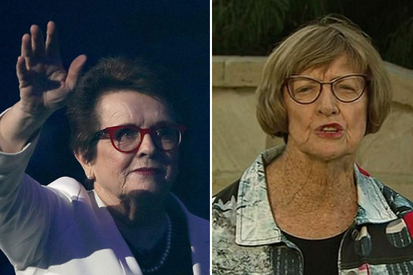 Article image for Billie Jean King to present trophy on 50th anniversary of victory over Margaret Court