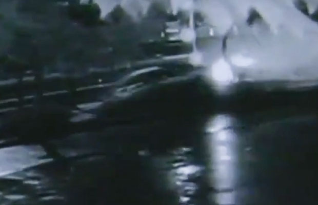 Article image for CCTV captures dramatic smash near CBD