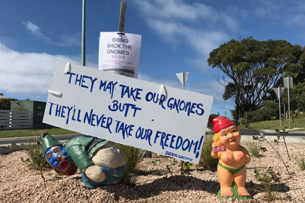 Article image for Local uprising to bring back the Point Lonsdale gnomes
