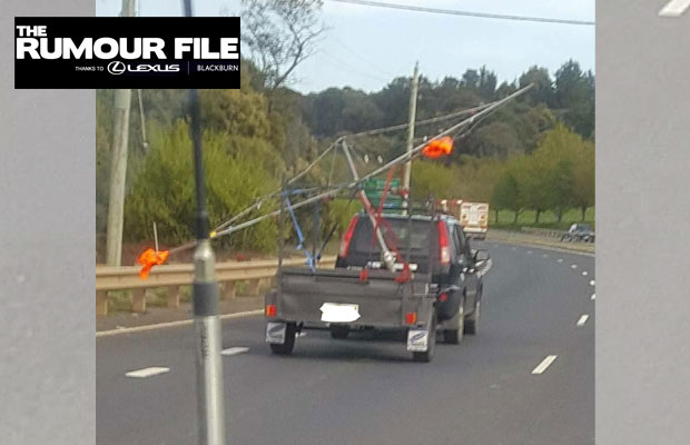 Article image for Driver foolishly tows ENTIRE clothesline on trailer