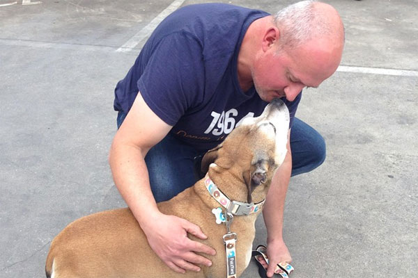 Article image for Melbourne man's happy reunion with missing dog after seven years
