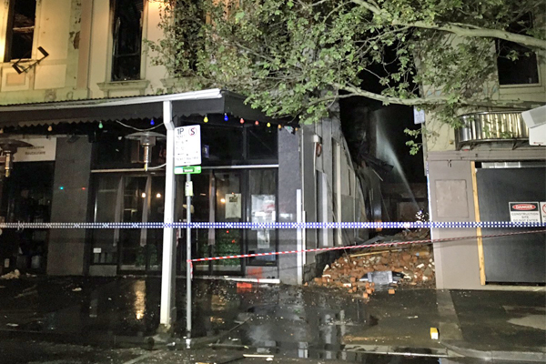 Article image for Shops destroyed in suspicious Lygon St fire