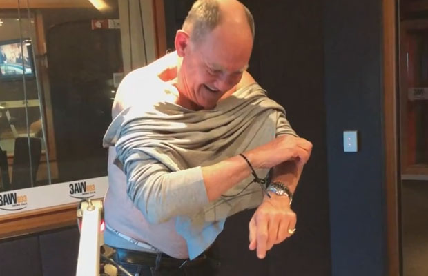 Article image for Ross and John see what they can do while 'handcuffed' in studio