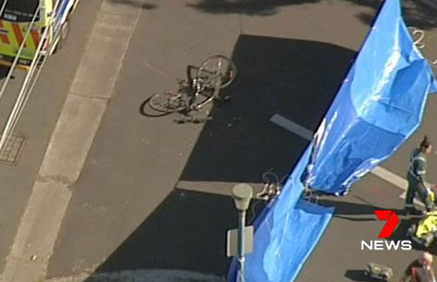 Article image for Cyclist killed in collision with truck at Northcote