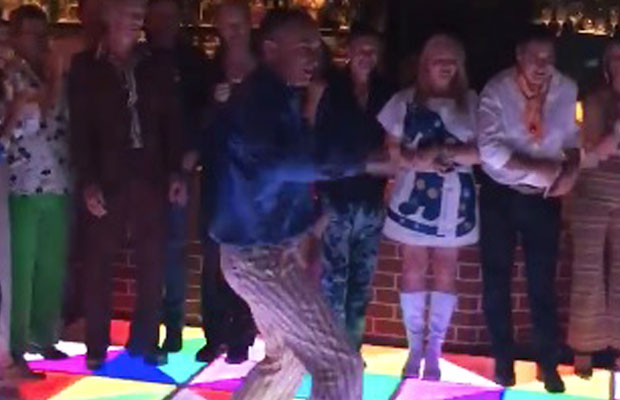 Article image for Tom Elliott turns on the disco moves at his 50th birthday party!