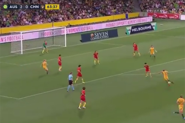 Article image for Sam Kerr steals the show with incredible Matildas goal