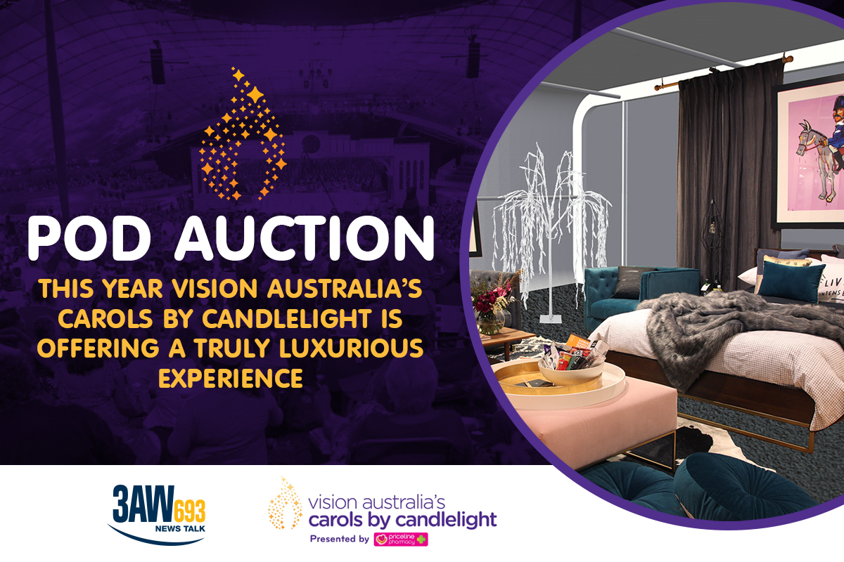 Article image for Vision Australia's Carols by Candlelight Pod Auction