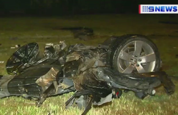 Article image for Driver found hanging out of car after shocking smash