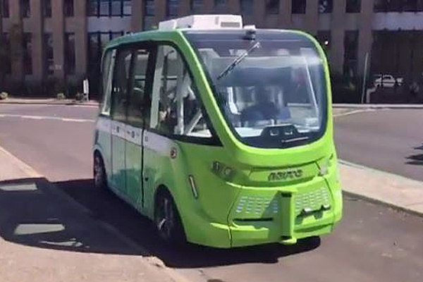 Article image for 3AW Mornings road tests the driverless bus