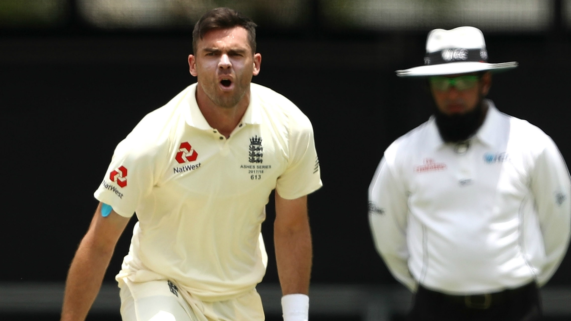 Article image for England insist Anderson is OK despite apparent injury