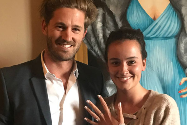 Article image for Love is in the air! AFL player Cal Ward pulls off cinematic proposal