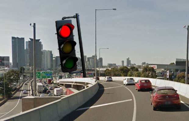 Article image for VicRoads reveals plans to put 'red lights' on freeways