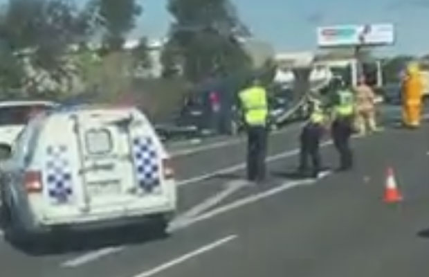 Article image for Update: Driver charged after horrific Peninsula Link crash which saw a man lose his arm