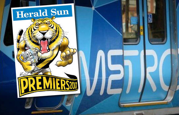 Article image for A Richmond fan is missing three premiership posters