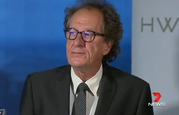 Article image for Geoffrey Rush launches legal action against Daily Telegraph