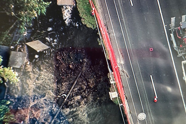 Article image for Storm damage: Landslide closes busy Warrigal Rd — timeline unknown