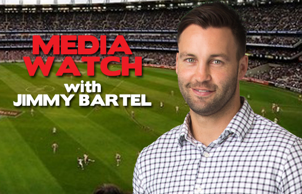 Article image for 'Media Watch' with Jimmy Bartel! His six 'captain obvious' gripes