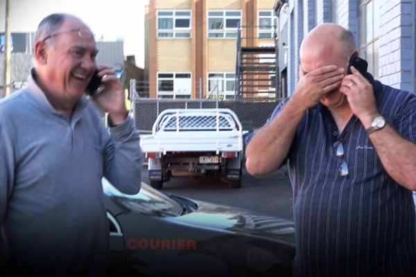Article image for VIDEO: Watch as Burnso delivers car to 2017 Rumour File winner