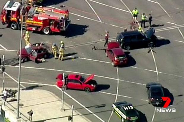 Article image for Shocking Sydney Road smash leaves several injured