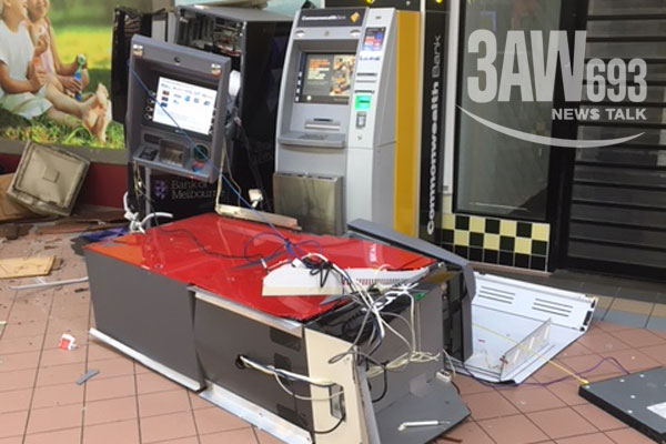 Article image for ATMs targeted in ram-raids on Melbourne businesses overnight