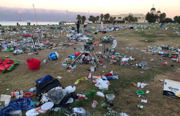 Article image for English backpacker defends St Kilda beach party, says clean-up bill a small price to pay