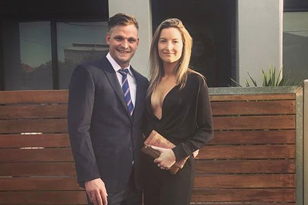 Article image for Western Bulldogs footballer changes name to include wife's surname