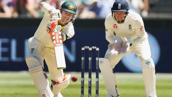 Article image for Warner out on 99, no ball gives him second chance