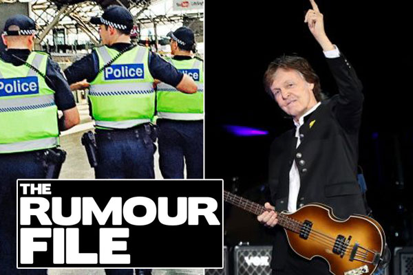 Article image for Rumour confirmed: Man arrested at Paul McCartney concert