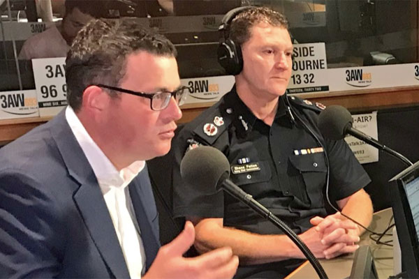 Article image for Premier and top cop in studio with Tony Jones