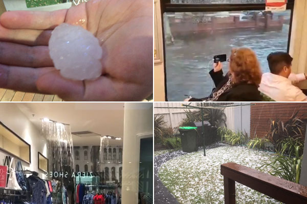 Article image for Floods, outages and cars trashed as storms lash Melbourne