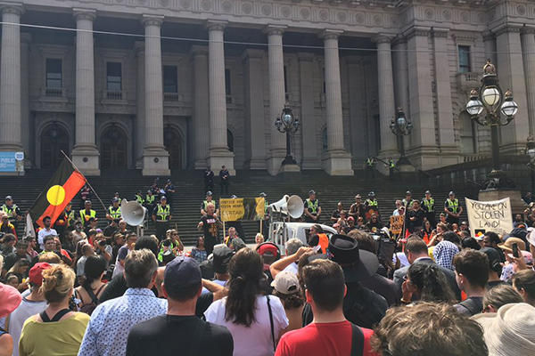 Article image for Australia 'too immature' for any day of celebration: Invasion Day protesters
