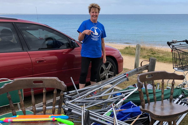 Article image for Beaches trashed: Disgusted locals clean up 140kg of rubbish