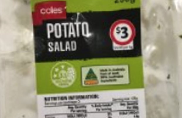 Article image for Coles recalls potato salad … because it's not potato salad