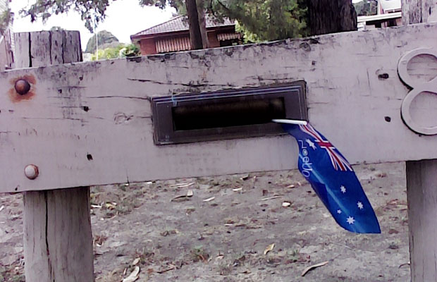Article image for Real estate agent's use of Australian flag called into question…