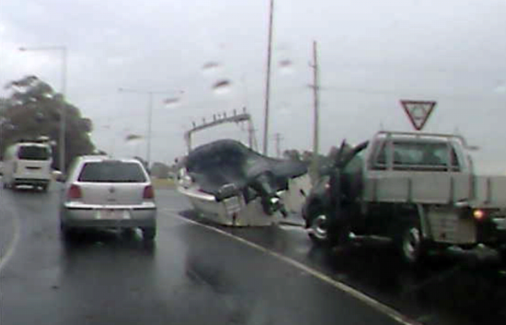 Article image for Boat falls off trailer in Melbourne's south east