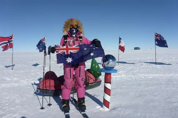 Article image for Melbourne teen Jade Hameister sets world record by completing the Polar hat-trick