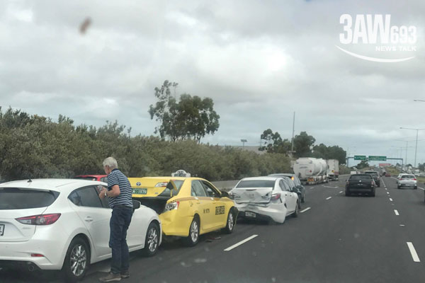 Article image for Five car pile-up on the Ring Road