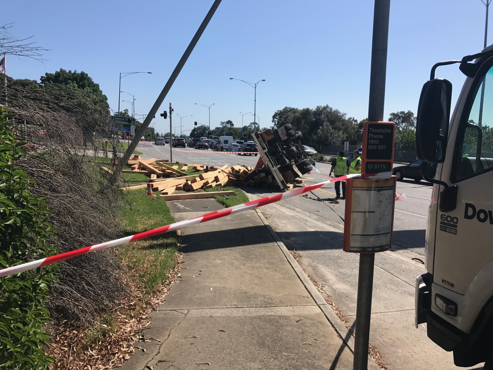 Article image for Truck rolls on Maroondah Highway