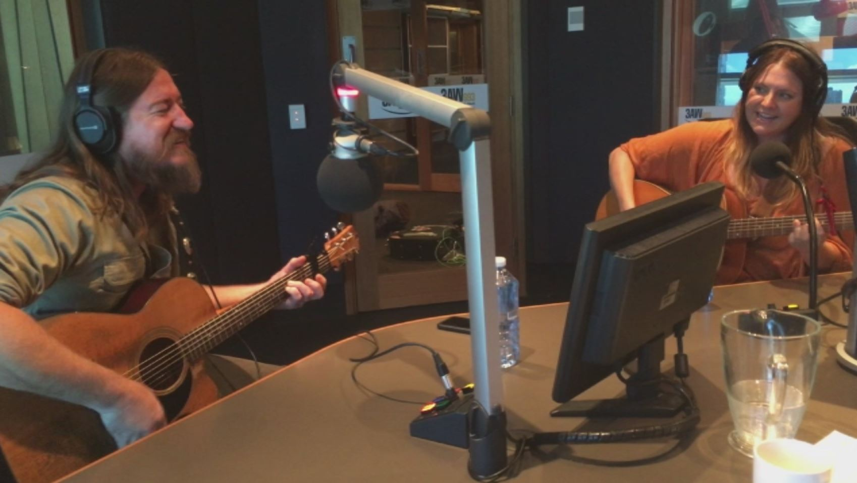 "Article image for Adam Eckersley and Brooke McClymont perform ""Train Wreck"" in the 3AW studio"
