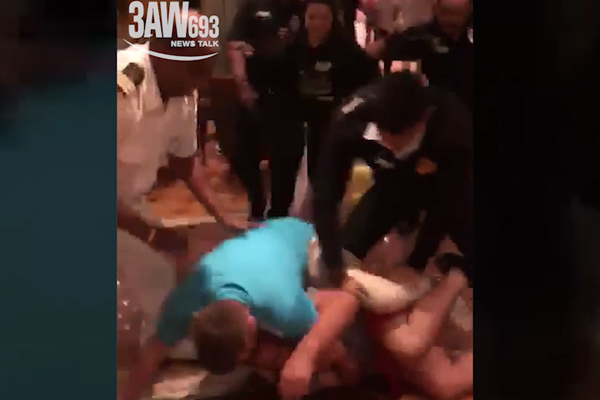 Article image for EXCLUSIVE FOOTAGE: Violent cruise ship brawl captured on camera
