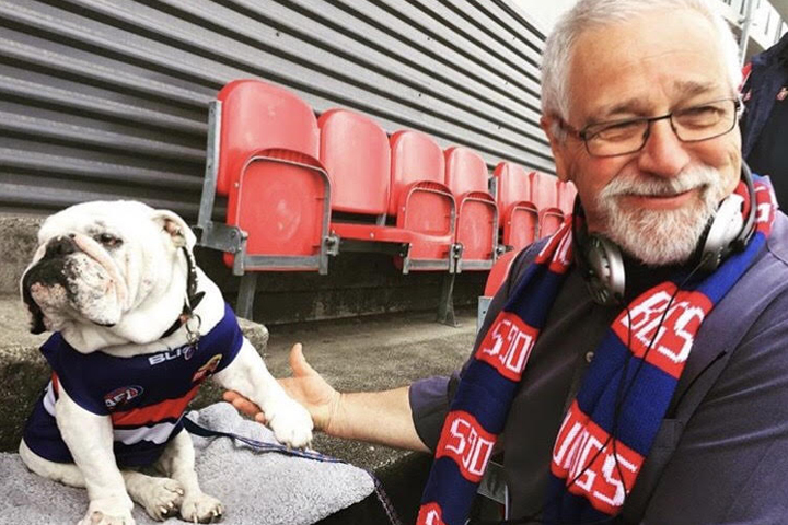 Article image for 'Love ya my little mate': Western Bulldogs lucky charm Sid dies