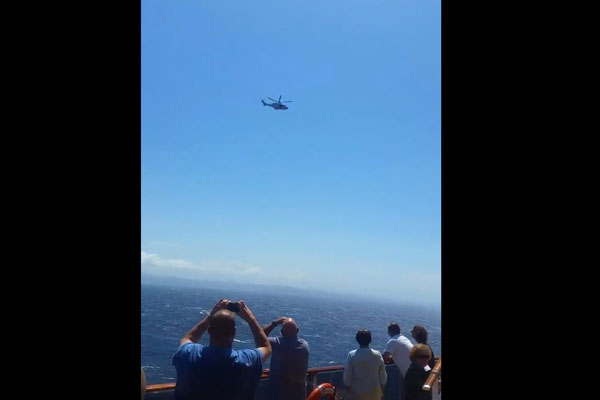 Article image for Word on the Sea: Crew member airlifted from cruise ship
