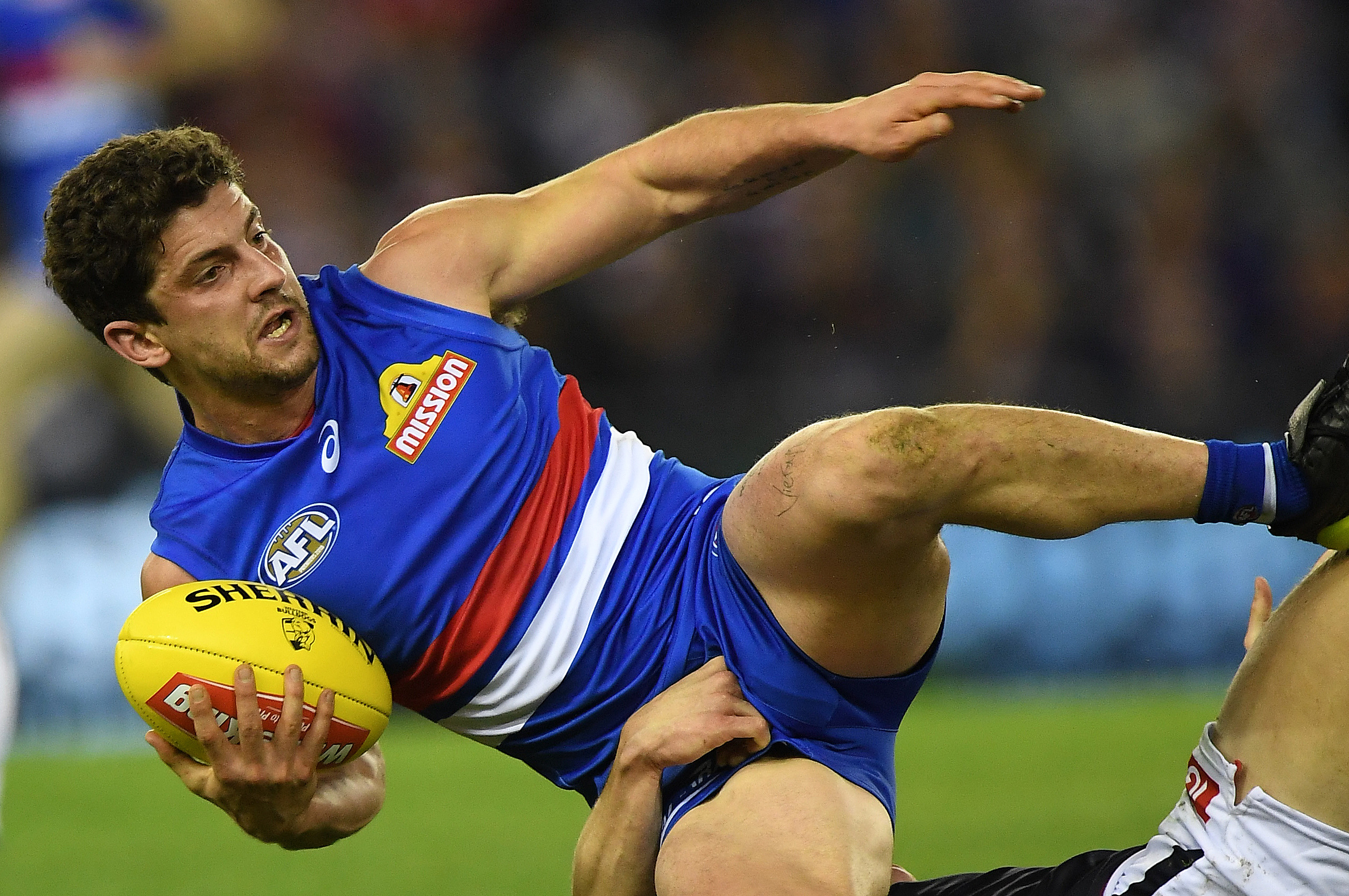 Article image for Bulldog star Tom Liberatore suffers ACL injury in Canberra