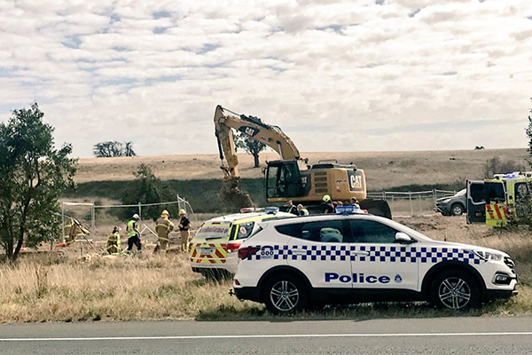 Article image for One man dead and another trapped for three hours in Victoria's west