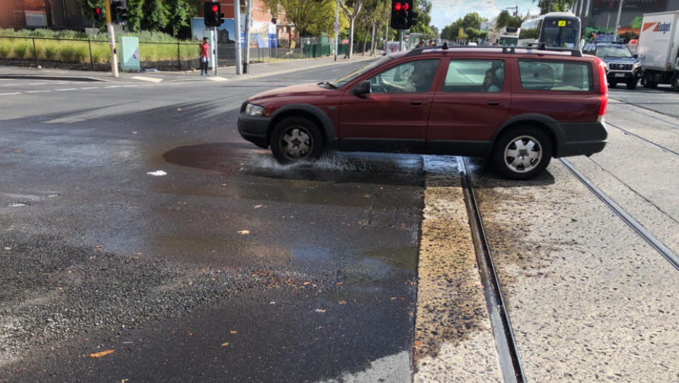 Article image for Photos: Melbourne's oldest puddle looks very different today…