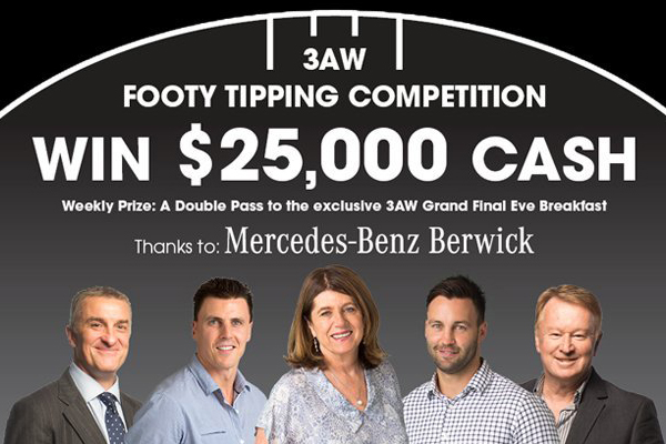 Article image for DON'T MISS OUT: Join 3AW Footy Tipping today!