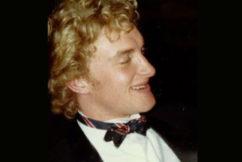 Tom Elliott's 'Flock of Seagulls' haircut from the 80s!