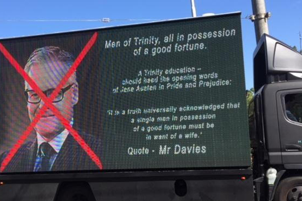 Article image for Campaign to oust Trinity Grammar principal takes to the streets