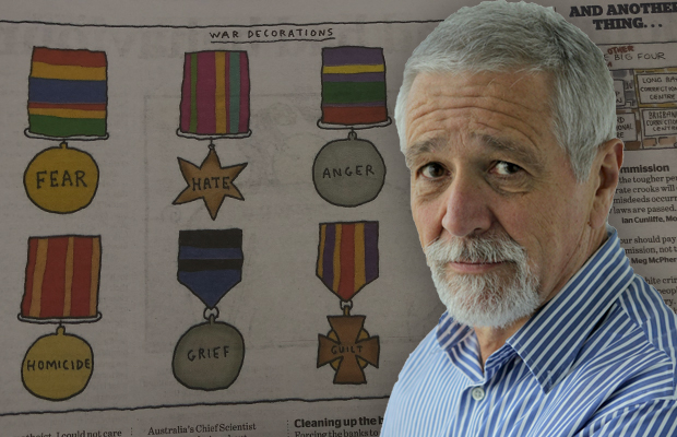 Article image for Neil Mitchell says Anzac Day cartoon in The Age 'totally' missed the mark