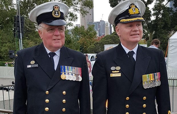 Article image for Meet the father-son combination who led Melbourne's Anzac Day march